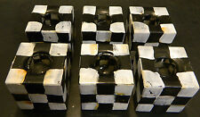 Vintage Hand Painted Set of (6) Checkerboard Cube Glass Candle Holders Excellent