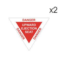 2 Stickers plastifiés DANGER EJECTION SEAT Siège éjectable - 6cm x 5cm