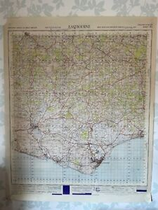 1949 Military System Map Eastbourne War Office Edition East Sussex Lewes OS