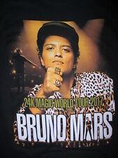 Bruno Mars Concert T Shirt World Tour 2017 24 Carat Magique Villes Dates Petit