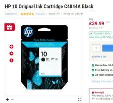 HP10 black ink cartridge new & boxed