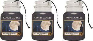 3X Yankee Candle Midsummer's Night Classic Car Jar Air Freshener scents anti odo