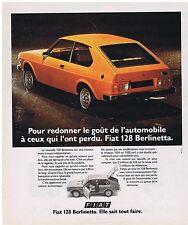 PUBLICITE ADVERTISING 114 1976 FIAT 128 Berlinetta elle sait tout faire