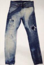 Men's H&M Slim Low Waist Destroyed/Distressed Button Fly Jeans Sz 28x32