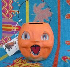 Bethany Lowe Halloween Small Choir Boy Pumpkin Bucket Jack O'lantern JOL New