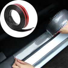 1M Carbon Fiber Car Door Plate Sill Scuff Cover Anti Scratch Sticker Accessories