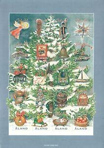 Aland Finland Christmas Present Gift Christmas Tree Sheet Åland Island MNH 2005