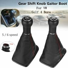5/6 Speed Car Gear Shift Knob Gaitor Boot Cover Leather 23mm For VW Golf 4 Bora