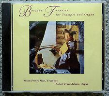 BAROQUE TREASURES FOR TRUMPET and ORGAN cd SUSAN FEENEY FLEET/ROBERT TRAIN ADAMS