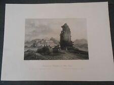 1840 STEEL ENGRAVING MONUMENT PHILOPAPPUS ATHENS GREECE ENGRAVER BRANDARD