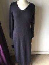 M & S Purple 12 Jumper Dress Merino Wool Acrylic