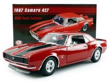 1967 CHEVROLET CAMARO SS 427 BIG BLOCK RED / BLACK STRIPES ACME 1:18 CAR GMP