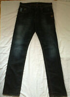 G-STAR RAW DENIM MEN'S JEANS 3301 ATTACC STRAIGHT 32/35  36 MADE IN ITALY