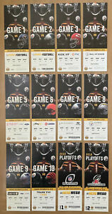 2018 NFL PITTSBURGH STEELERS FOOTBALL ENTIRE SEASON FULL TICKETS - ALL 12 GAMES