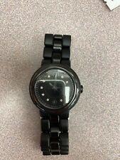 Movado Cerena Ladies Black Ceramic Diamond Swiss Quartz Watch 0606693