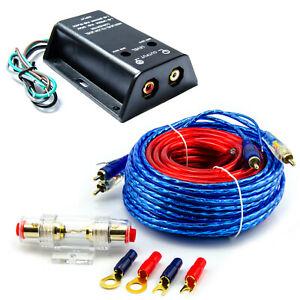 Lautsprecher Cinch Adapter Converter High Low mit Verstärker Kabelkit Set 10qmm