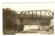 NEW BRIDGE LAWRENCETOWN NOVA SCOTIA REAL PICTURE POSTCARD  - 1914