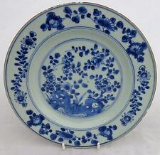 Antique Chinese porcelaine creuse pierres bleu blanc Assiette Kangxi 康熙 Qing 清代 C 1700