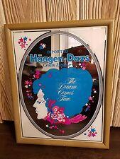 Haagen-Daz Creame Liquor wall mirror- liquor Store 1980's Princess Advertising