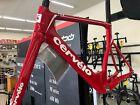Cervelo T4 Track Frameset Red White Track Frame Fork Carbon NEW in Box 51 and 56