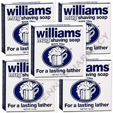 Williams Mug Shaving Soap - 1.75 oz  ( 5 pack ) FRESH PHARMACY SUPPLY!