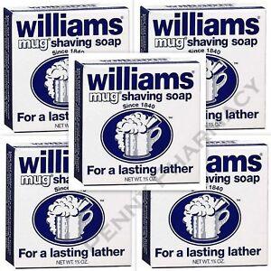 Williams Mug Shaving Soap - 1.75 oz  ( 5 pack ) FRESH PHARMACY SUPPLY!