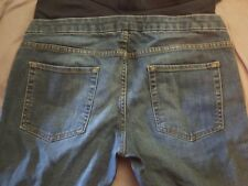 ZARA FOR MUM~Womens Maternity Jeans~Sz.M~ Medium Wash-Slightly distressed-Great