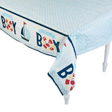 Nautical Baby Shower Table Cover Sailor Supplies Party Sailing Ahoy Its a Boy