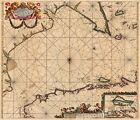 1702 France England English Channel Historic Vintage Style Wall Map - 20x24