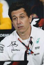 TOTO WOLFF Firmato a Mano 12x8 PHOTO Mercedes AMG Petronas f1 6.
