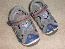 Stride Ride Shoes Size 6.5 M Elmo Sandals Blue Leather Baby Boy