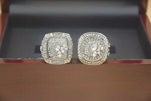 2pcs 2010 2015 Chicago Blackhawks Stanley Cup Championship Ring //