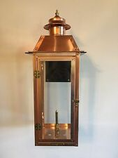 Copper Gas Lantern With Stainless Steel Bracket. Powder-coated Black