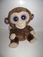 "TY Beanie Boo's 9"" COCONUT Monkey Boo Brown 2011 stuffed animal plush boos CUTE"