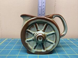 Frankoma Pottery Wagon Wheel Prairie Green Creamer Small Pitcher