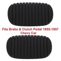 1955-1957 Chevy Car Brake & Clutch Pedal Pads Bel Air Nomad One Fifty Two Ten