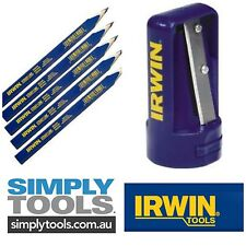 6 X IRWIN CARPENTER PENCILS WITH SHARPENER