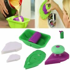 4Pcs Paint Roller Tray Kit Home Decorative Painting Brush Point Paint Pad Tools