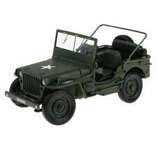 1/18 voiture militaire moulé sous pression modèle World War II véhicule