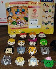 Disney Tsum Tsum Series 3 Mystery Pins Complete Set Peter Pan Jungle Book Elliot