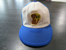 VINTAGE ET Snap Back Hat Cap White Blue Extraterrestrial TV Show Movie Mens 80s