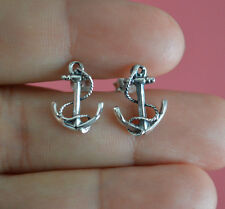 925 Sterling Silver Nautical Anchor Stud Post Earrings Jewelry - Anchor Earrings