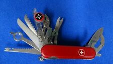 Vintage Wenger Delemont Swiss Army Knife 17 Tool Great Condition Look!
