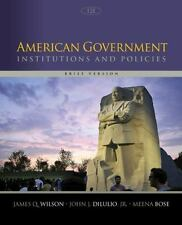 American Government : Institutions and Policies, Brief Version by John J., Jr. D