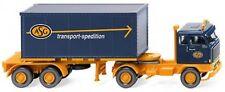 """Wiking 052602 - Containersattelzug 20' (Volvo F89) """"ASG""""_NEU/OVP - Vorbestellung"""