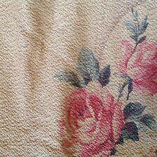 1940s Cottage Chic PINK Cabbage Roses on Pale Super Nubby BARKCLOTH 2 Available