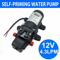 12V 4.3Lpm Self-Priming Water Pump High-Pressure Caravan Camping Boat AU Stock