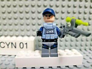 LEGO ACU Trooper minifigure Jurassic World 71205 dinosaur + tranquilizer gun LT