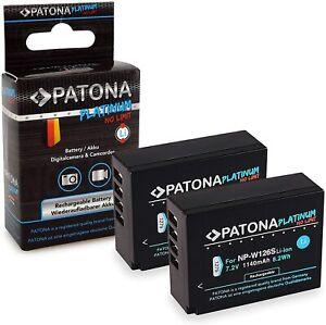 X2 Batterie Platinum PATONA NP-W126S Pour Fujifilm Fuji X-T3, VPB-XT3 HS33 Exr