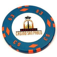 Ladbrokes CASINO SAN PABLO Card Room Poker Chip $3 San Pablo CA California RARE
